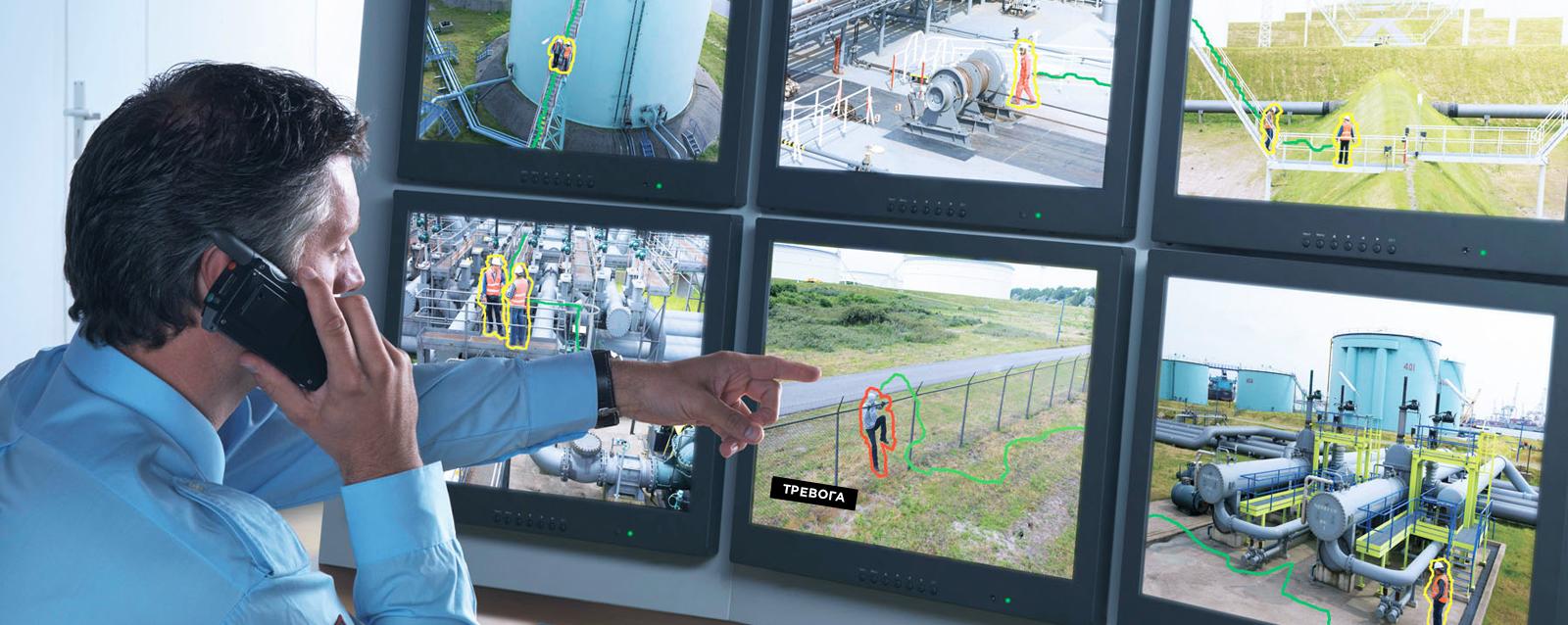 охранная сигнализация с датчиком движения в работе