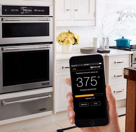 умная духовка — управление со смартфона
